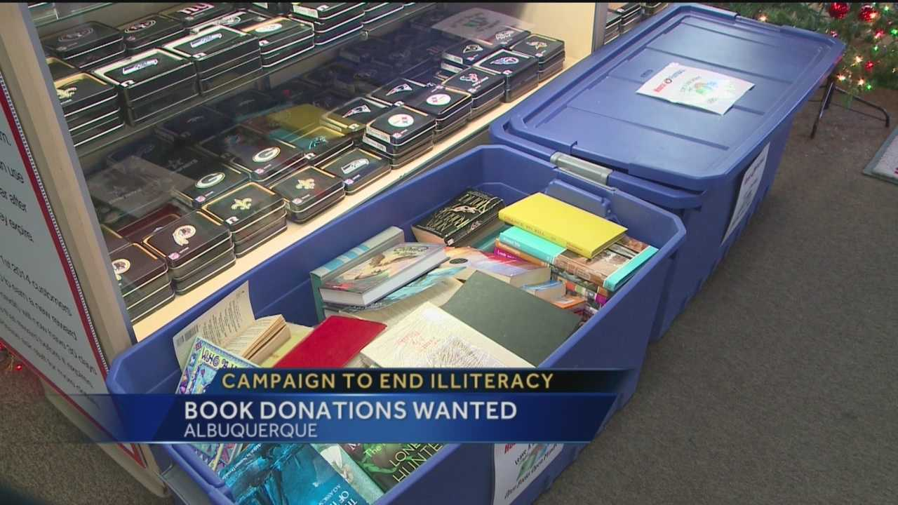 One local store is looking for books this holiday season in a campaign to end illiteracy.