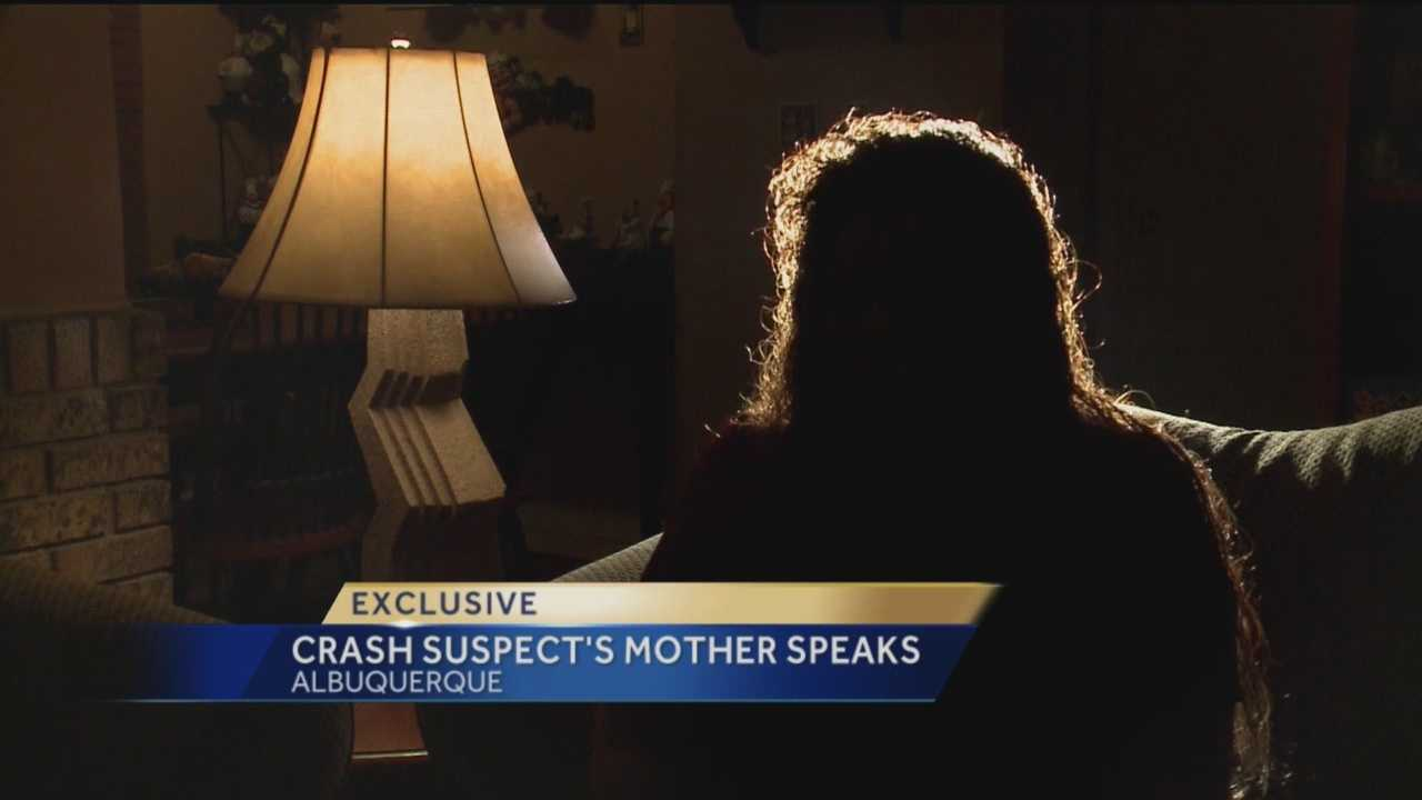 A fatal crash suspect's mother sat down with KOAT Action 7 News.