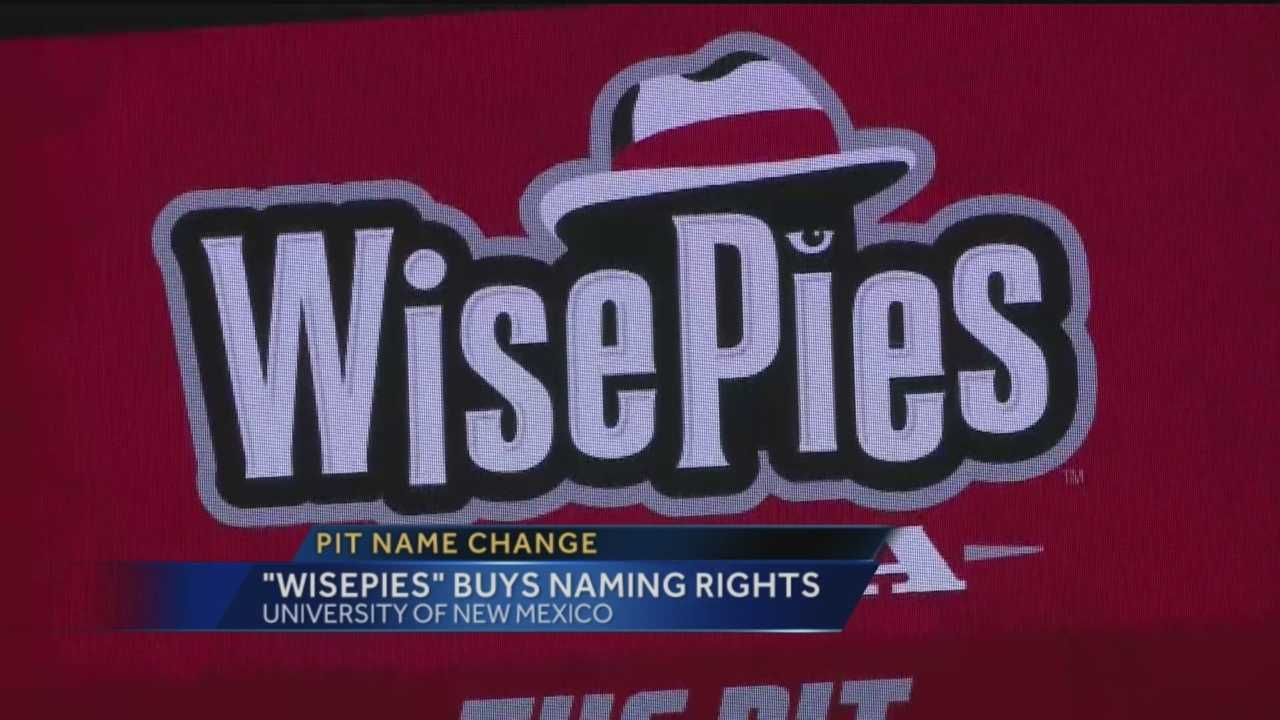 "It's official, The PIt will now be called the ""Wise Pies Arena""."