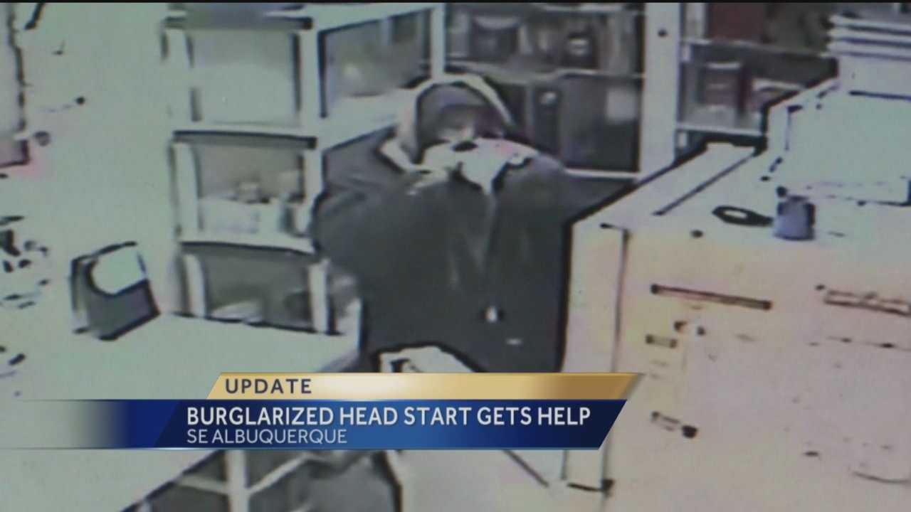 A grinch threatened to ruin Christmas for dozens of kids after robbing an Albuquerque head start.
