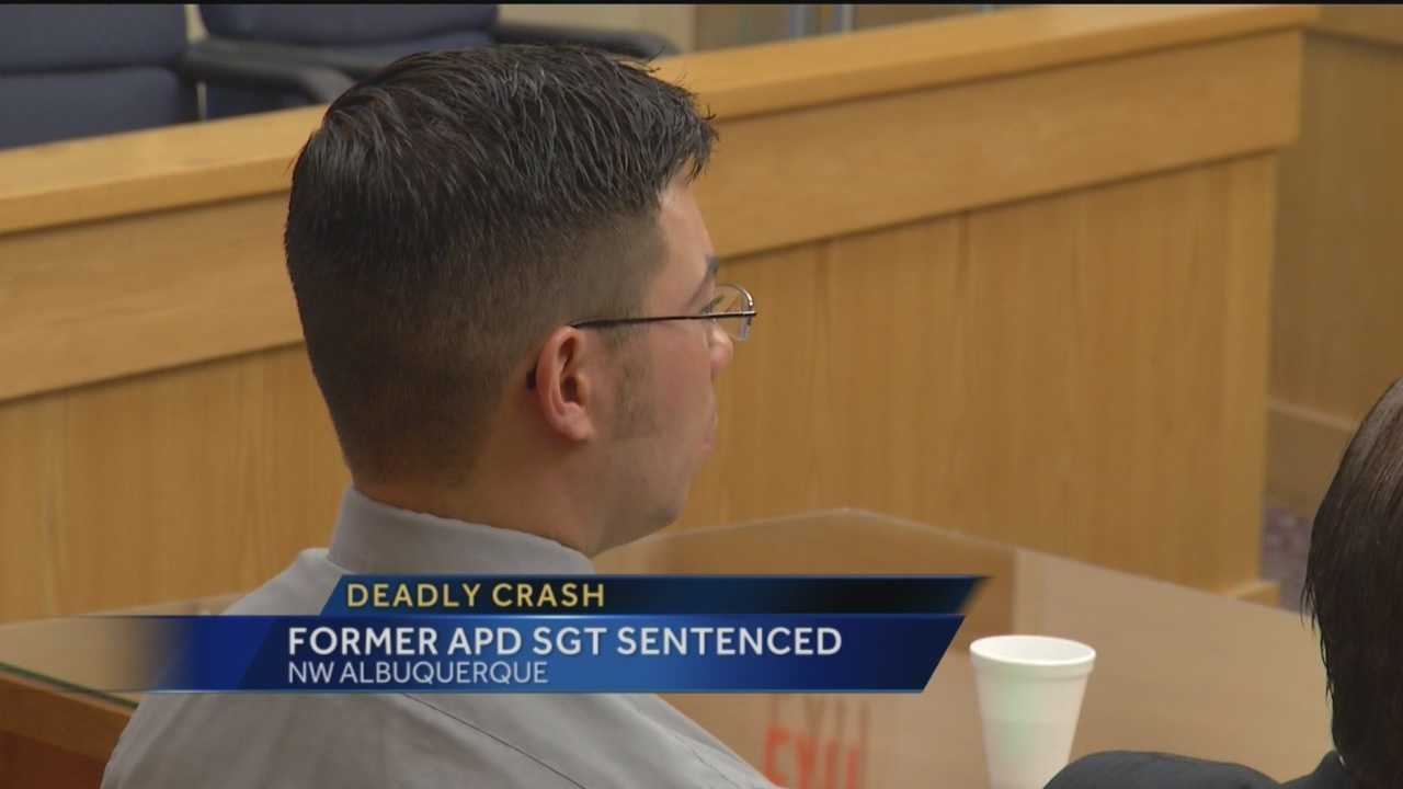 A former Albuquerque police officer convicted of careless driving in a fatal accident will spend 90 days behind bars.