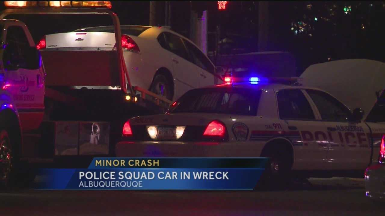 An Albuquerque police squad car was involved in a wreck Sunday evening near 98th Street and Central Avenue.