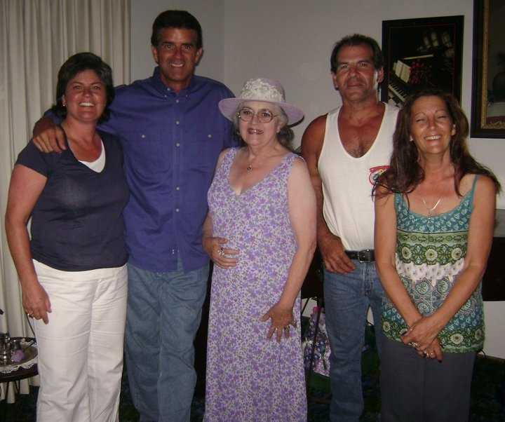 Here's a shot of Doug and his family celebrating the holidays about five years ago.