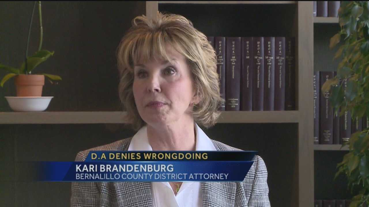 Bernalillo County District Attorney Kari Brandenburg is on the other side of a criminal investigation.