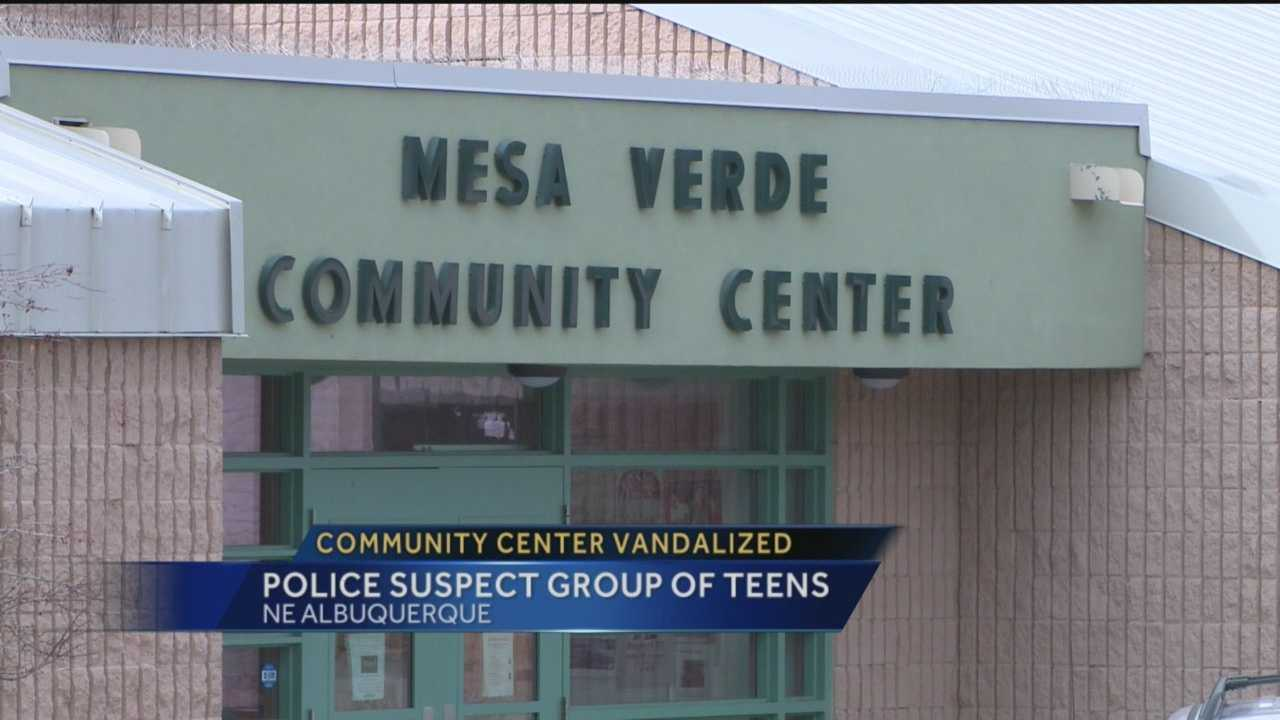 Police are trying to figure out who continues to break the windows at a northeast Albuquerque community center.