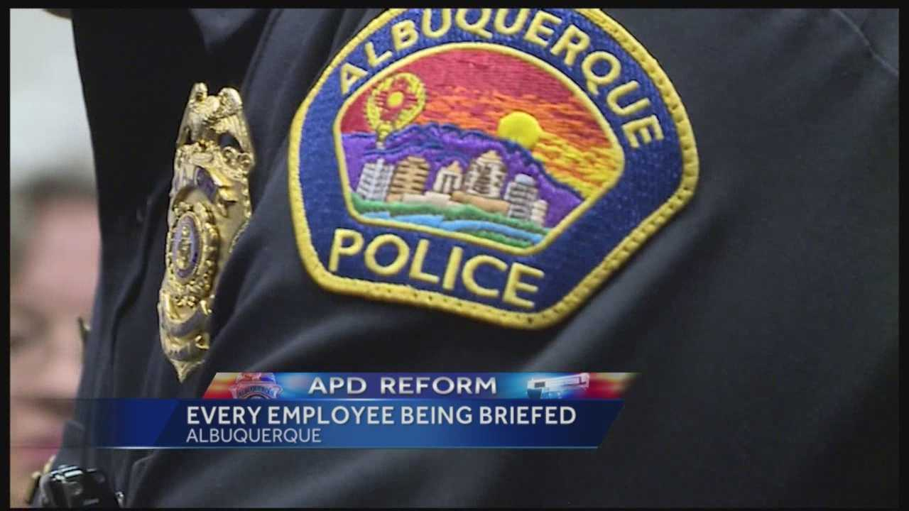 The U.S. Department of Justice is back in Albuquerque this week, this time to brief the police department on new required policies.
