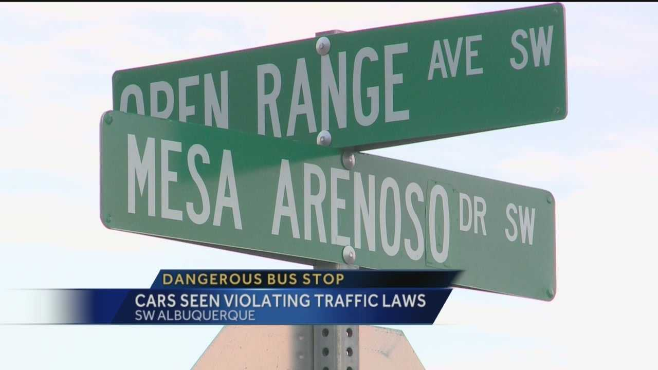 An Albuquerque dad has a beef with an intersection in his neighborhood where his two daughters wait every day for their school bus.