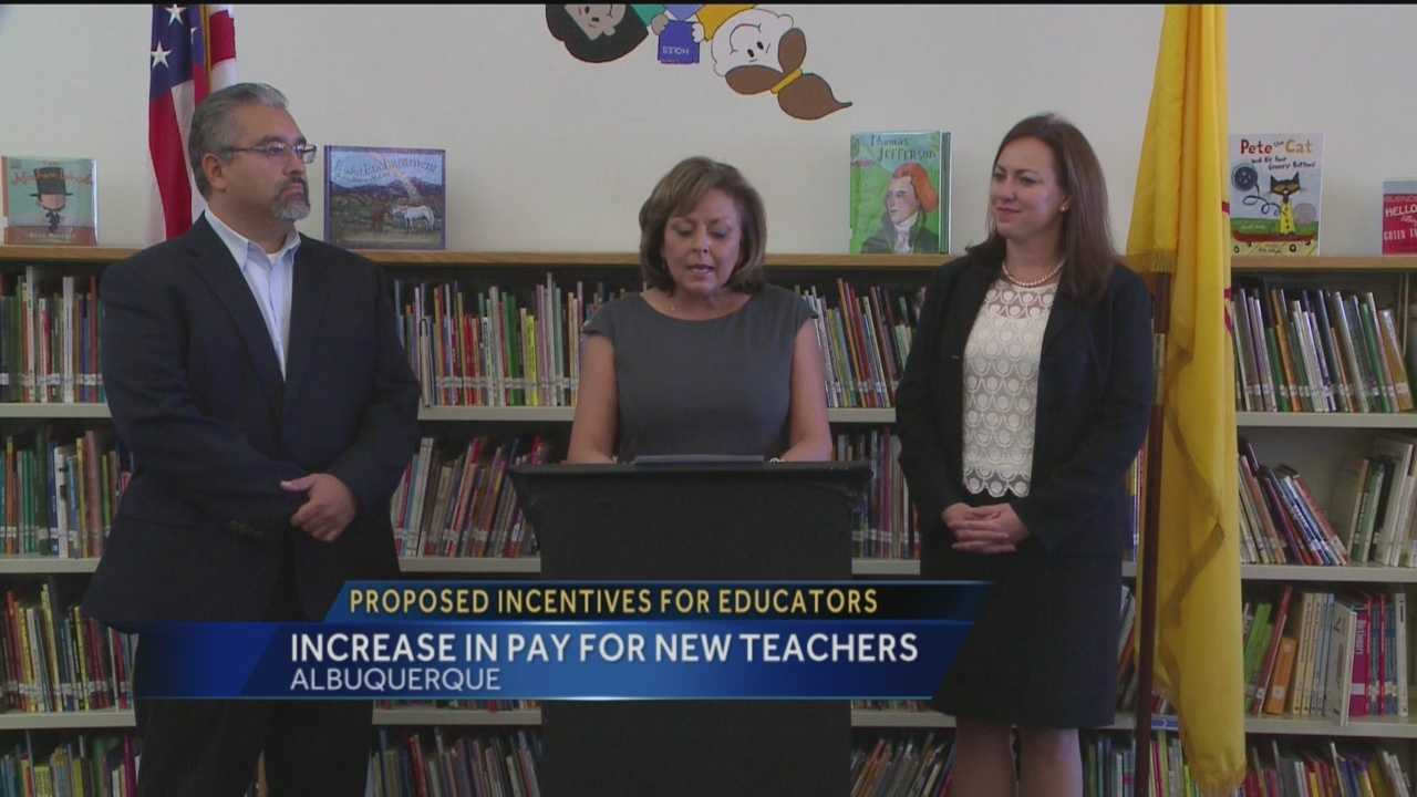 Gov. Susana Martinez announced a package of initiatives for teachers Wednesday.