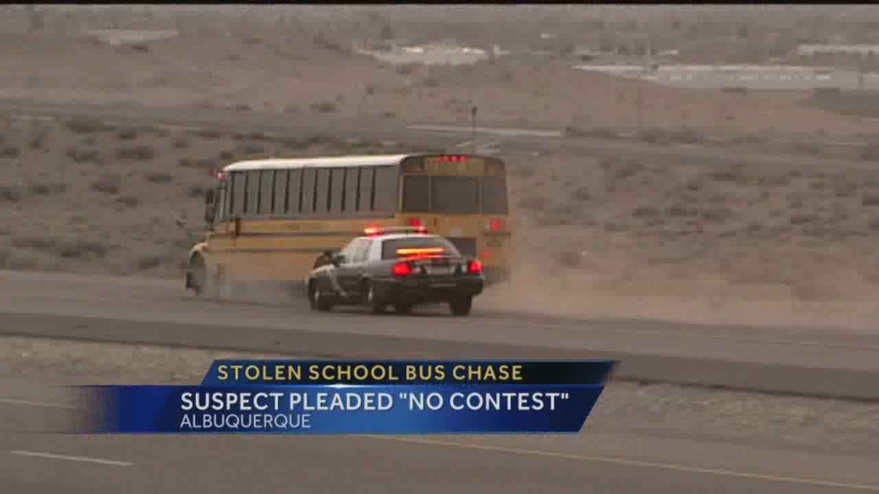 A man shot three times by police after stealing a school bus faces a judge Thursday.