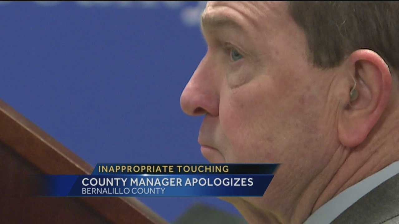 A female employee said the Bernalillo County manager inappropriately touched her on multiple occasions.