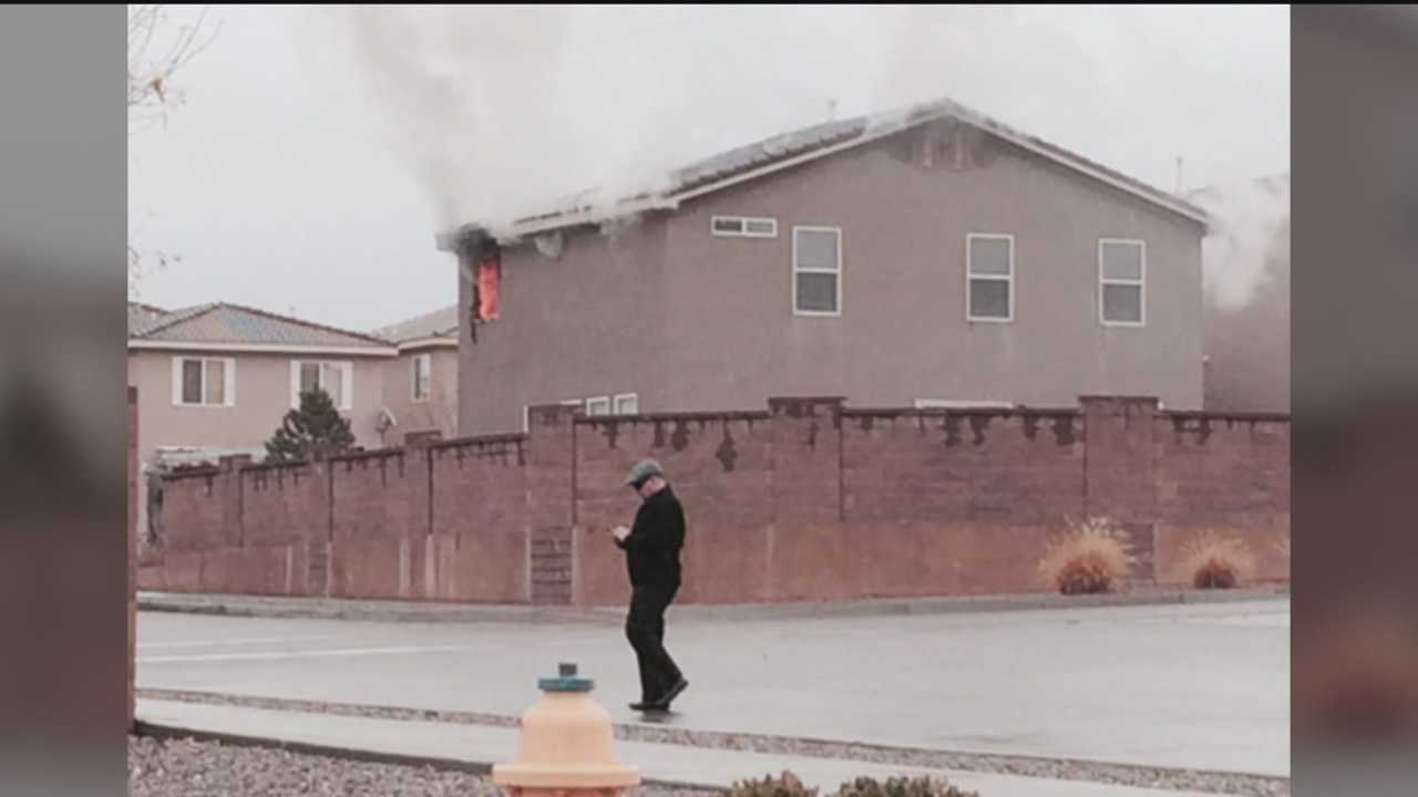 Albuquerque firefighters said they found a body while fighting a house fire Wednesday.