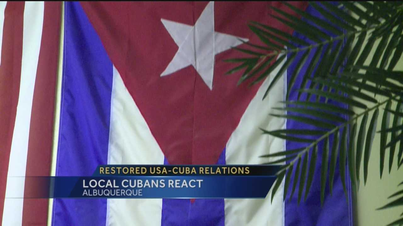 Cubans here in Albuquerque are reacting to this monumental change in policy.