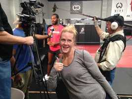 New Mexico native Holly Holm announces jump from MMA to UFC.