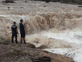 Flooding. Carlsbad, New Mexico. September, 2014.