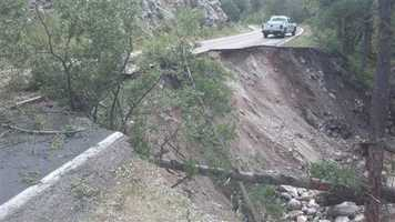 September flooding causes landslide.