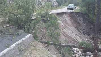 September flooding causes landslide.