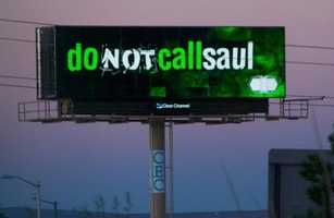 "Local law firm embraces buzz behind ""Breaking Bad"" spinoff ""Better Call Saul"" with billboard."