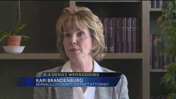 District Attorney Kari Brandenburg claims she did not break the law when it came to helping her son with his legal problems. APD stands by its investigation, saying she may have committed a crime.