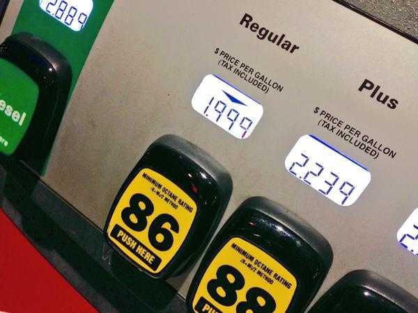 Gas prices dip below $2.00 per gallon in the Albuquerque metropolitan area.