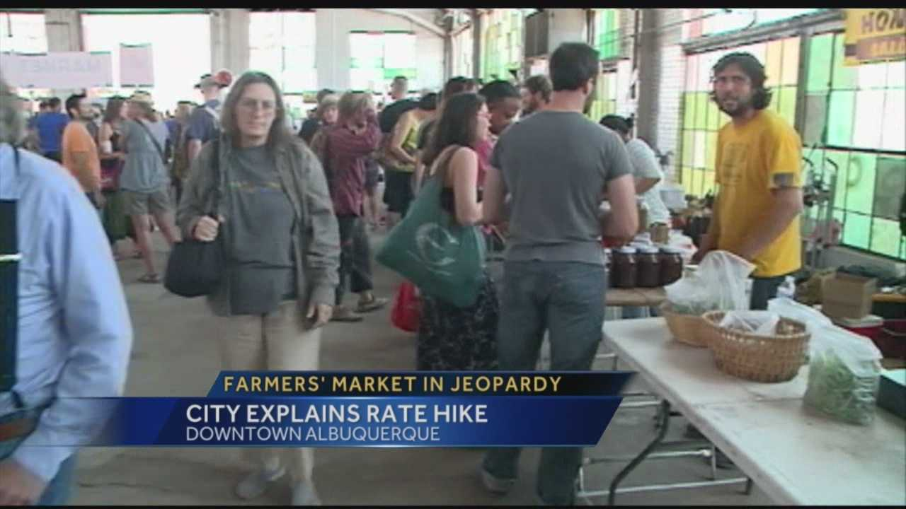 A rate hike and schedule change could put Albuquerque's railyards farmers market, out of business.