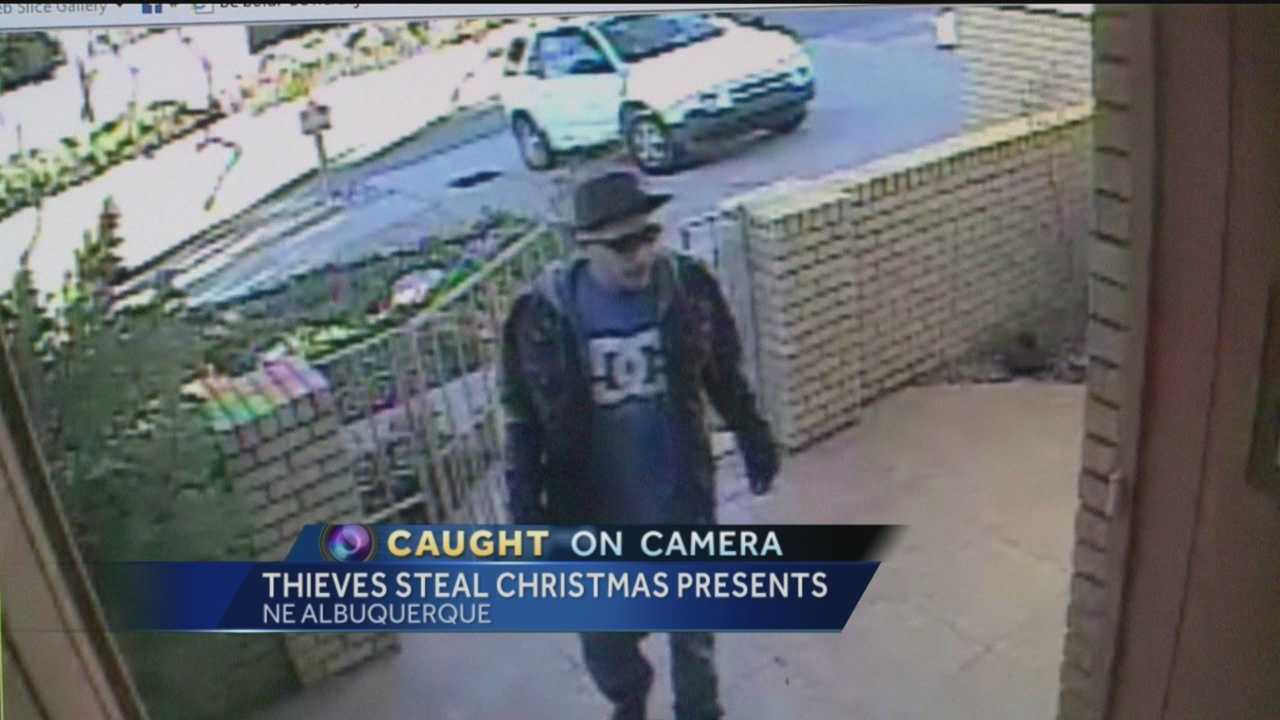 Caught on camera, two thieves wrecking one Albuquerque family's Christmas. Action 7 News reporter Megan Cruz has the exclusive video of the daring theft.