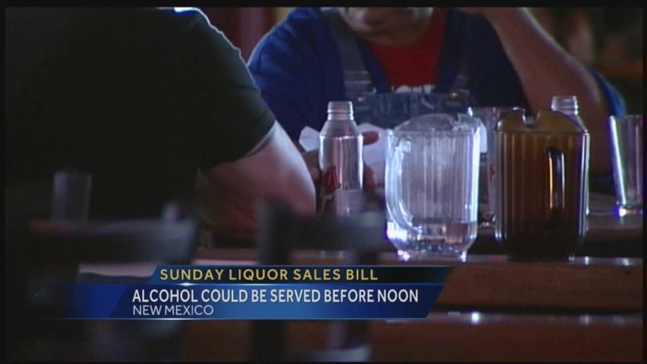 New Mexicans could be drinking earlier on Sundays if a proposed bill goes through. Right now, restaurants can't serve drinks until after noon. Action 7 News reporter Mike Springer explains how this new bill would change.