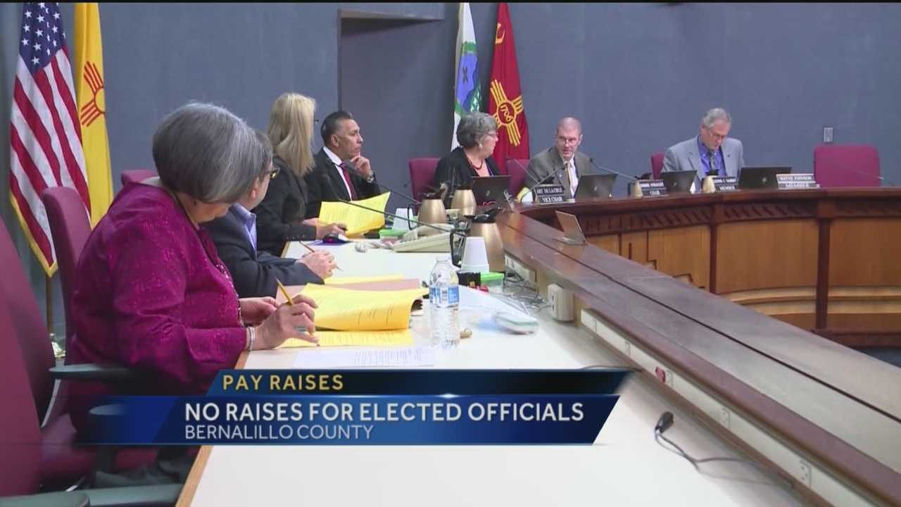 Officials in Bernalillo County will not be getting a pay raise next year, and commissioners are split on whether that's a good thing.