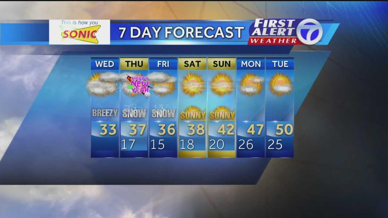 Angela's Wednesday Morning Forecast