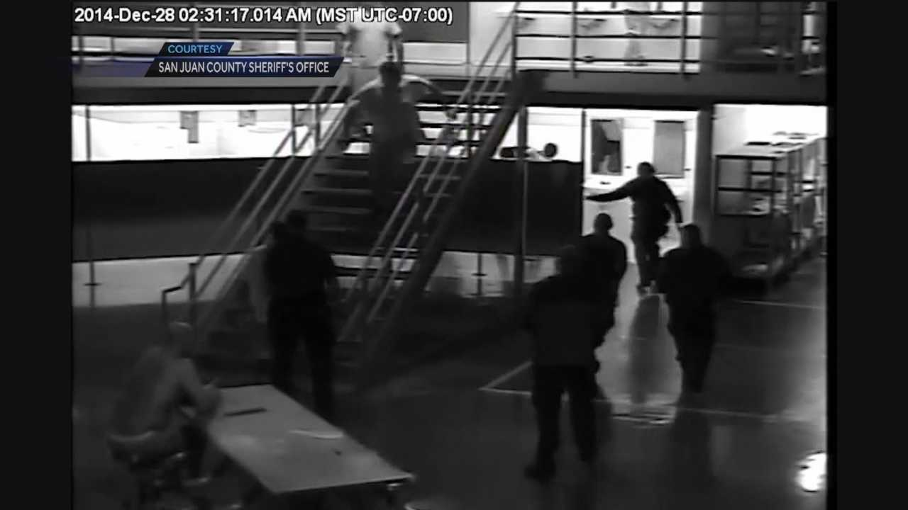 Four inmates are being charged in an attack on a guard at the San Juan County Jail.
