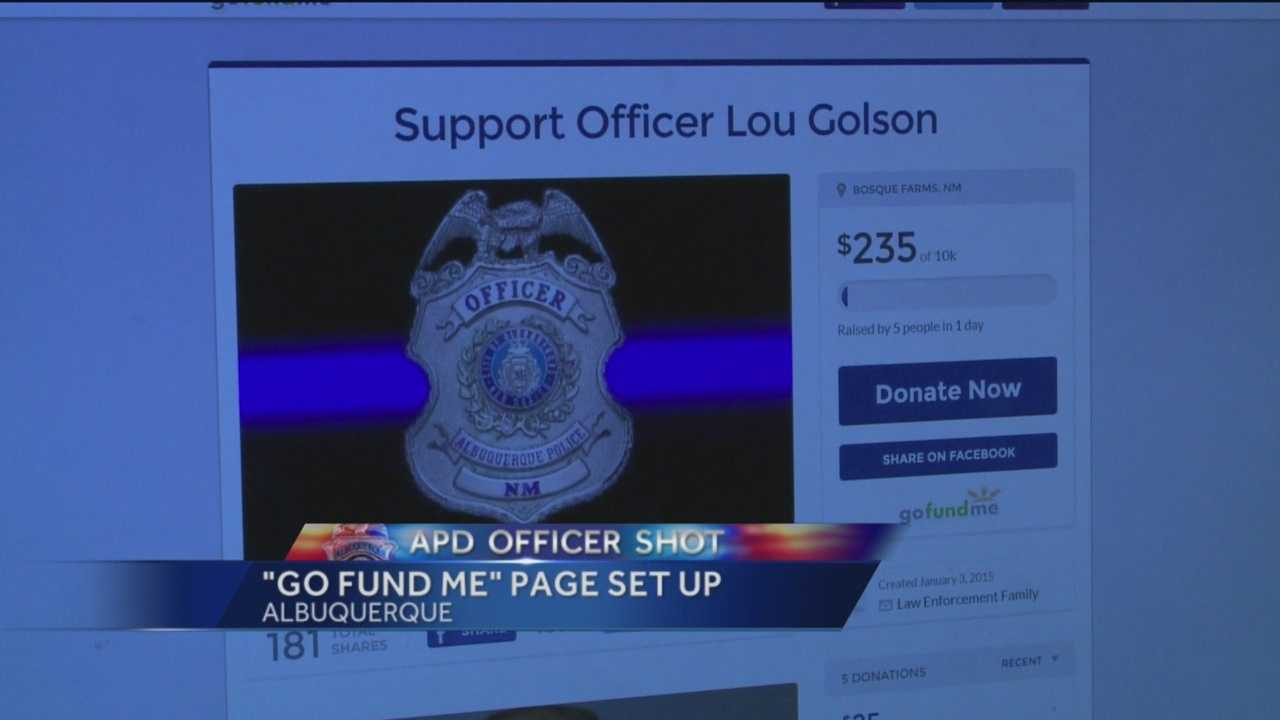The Bosque Farms Police Department is trying to raise money for the family of an Albuquerque cop shot this past weekend.
