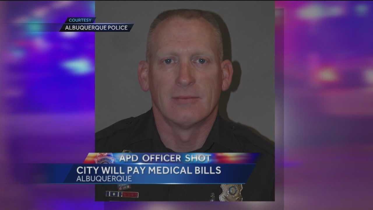 An officer shot this past weekend is recovering at UNMH.