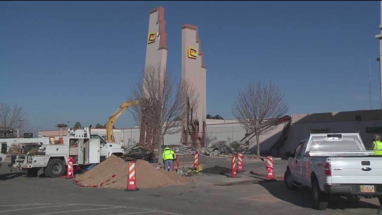 Two iconic pieces in Albuquerque came crashing down Friday.