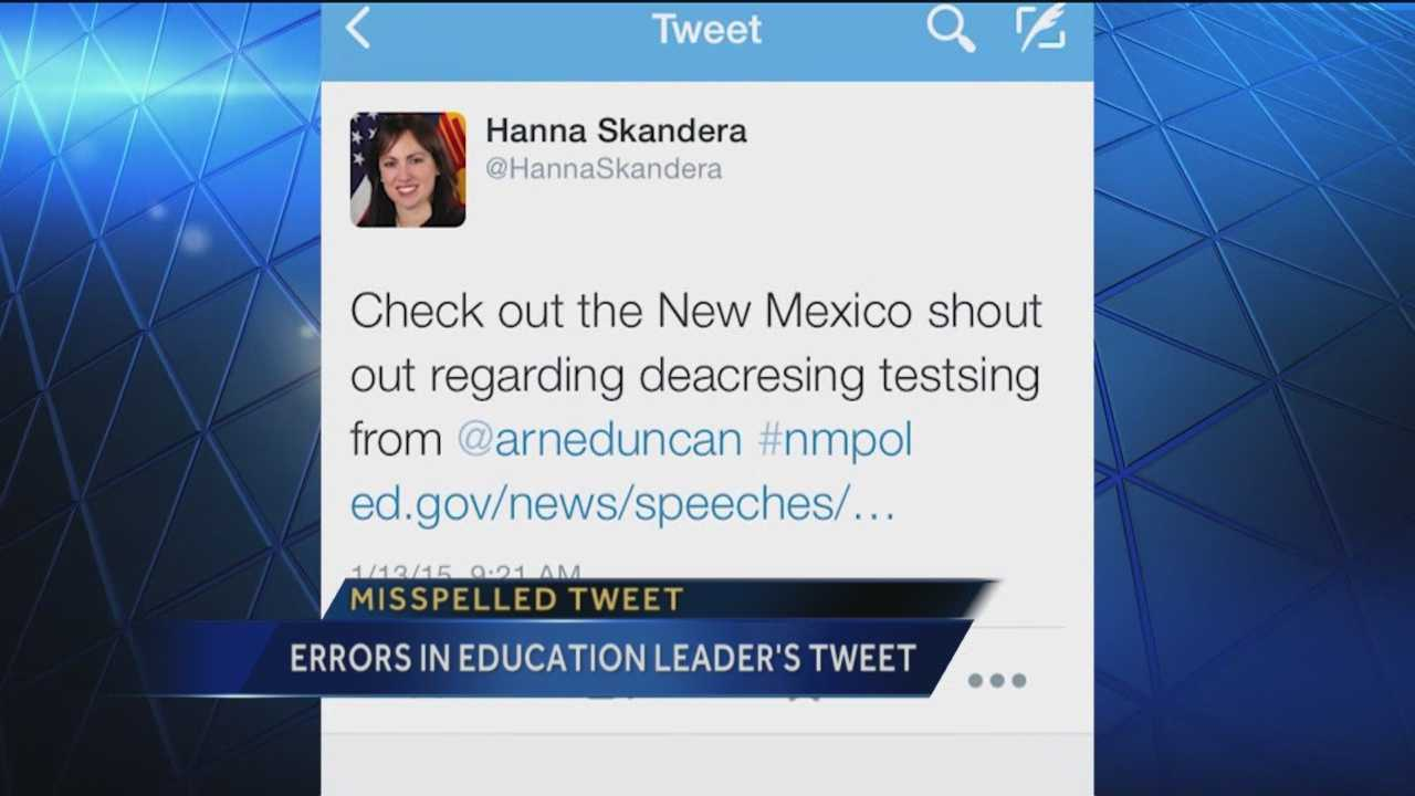 A tweet from the state's top education official raised some eyebrows Tuesday morning.