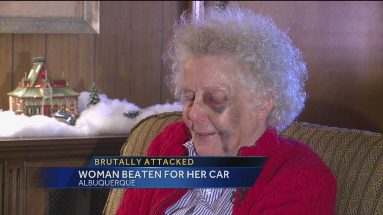 An Albuquerque grandmother was attacked right in front of her home and then police say the suspects took her car for a while ride.