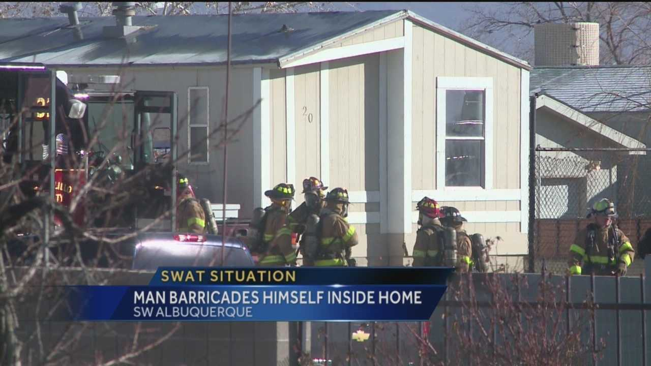 Albuquerque police said a man basically smoked himself out of a SWAT standoff Friday morning.