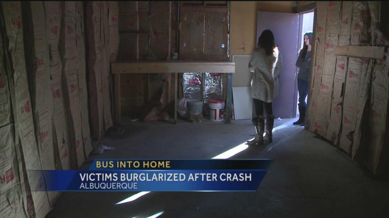 One month after two women moved into an Albuquerque house, a city bus crashed right thought it. Now they're victims again.