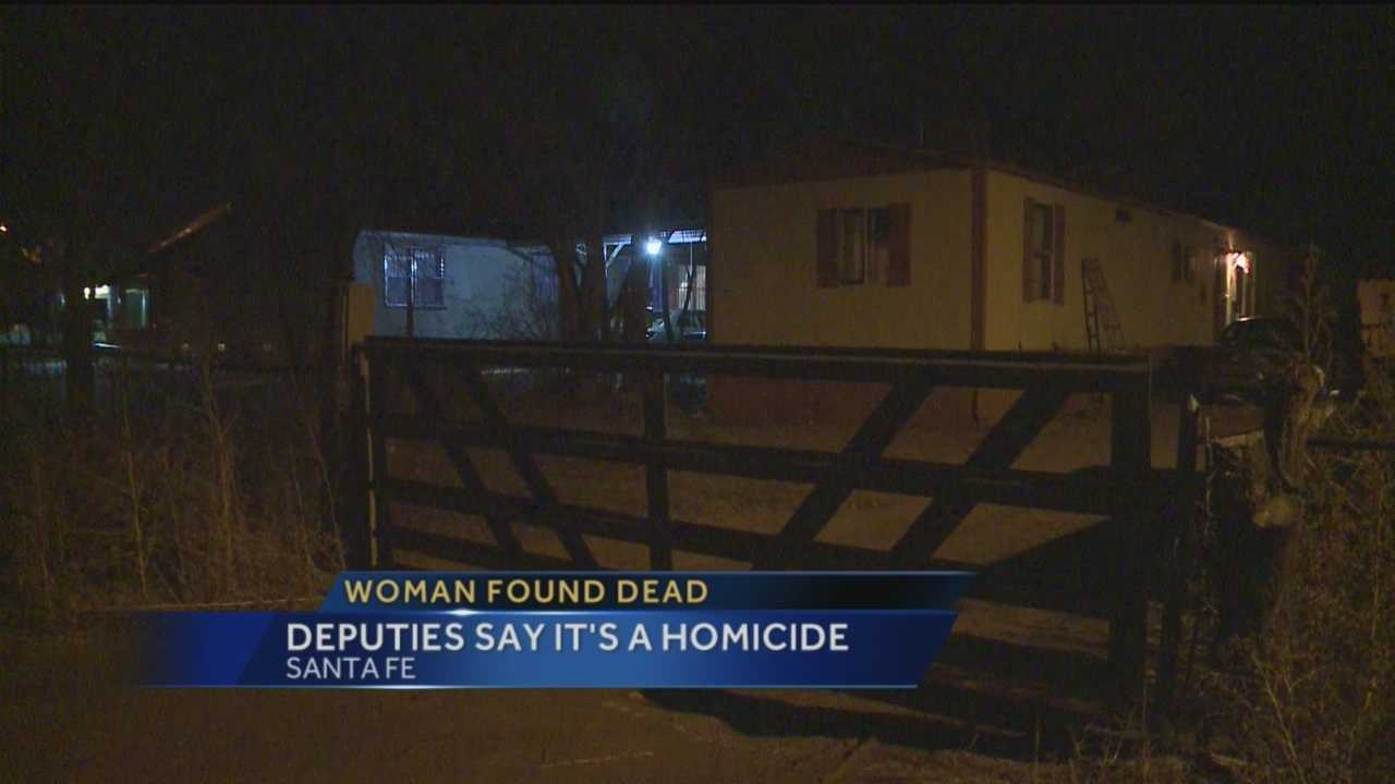 The Santa Fe County Sheriff's Office is investigating a homicide.