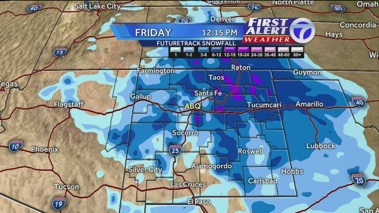 Snow is on its way, New Mexico. Here's a First Alert Weather report as it aired in the 10 p.m. show Tuesday.