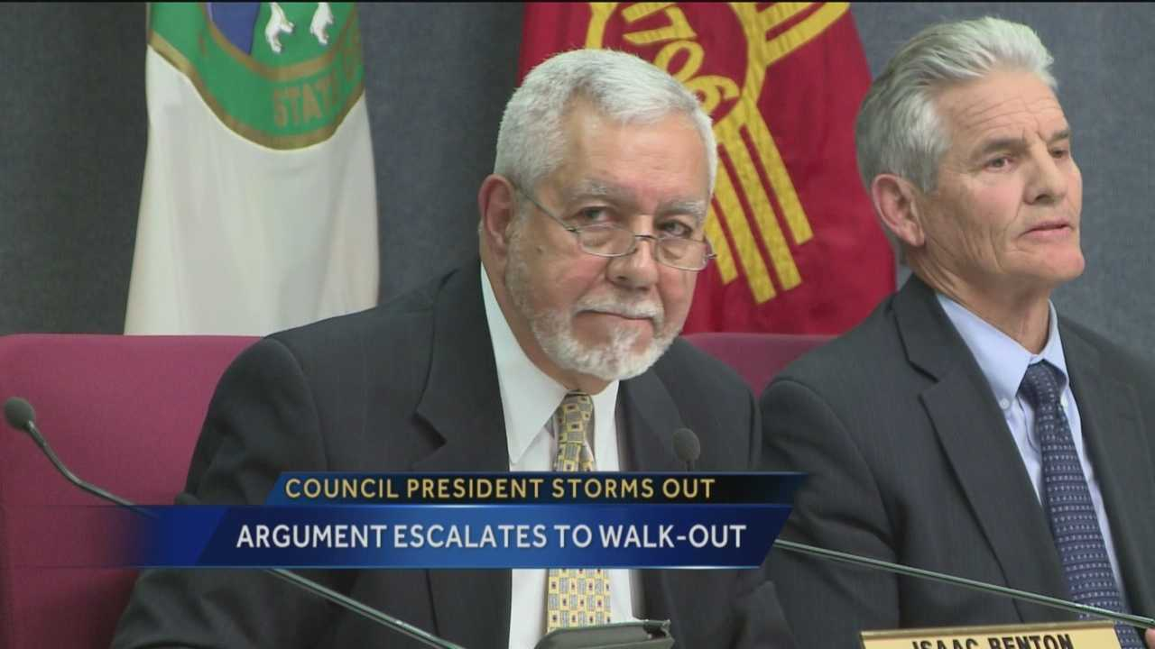 Wednesday's Albuquerque City Council meeting had some unexpected drama when President Rey Garduno abruptly stormed out of the meeting.