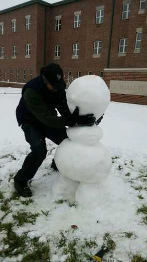 One u local member crafted an amazing version of Olaf from the movie Frozen after the latest snowstorm. Check it out.