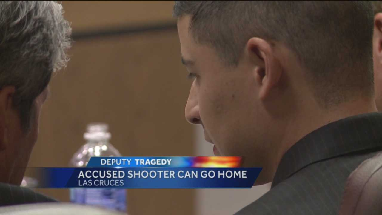 A Santa Fe County Sheriff's deputy accused of killing his colleague appears in court Friday.