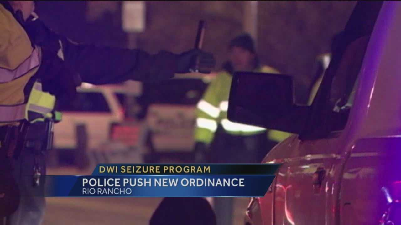 Rio Rancho may soon adopt an Albuquerque program that allows police to seize and sell vehicles from repeat DWI offenders.