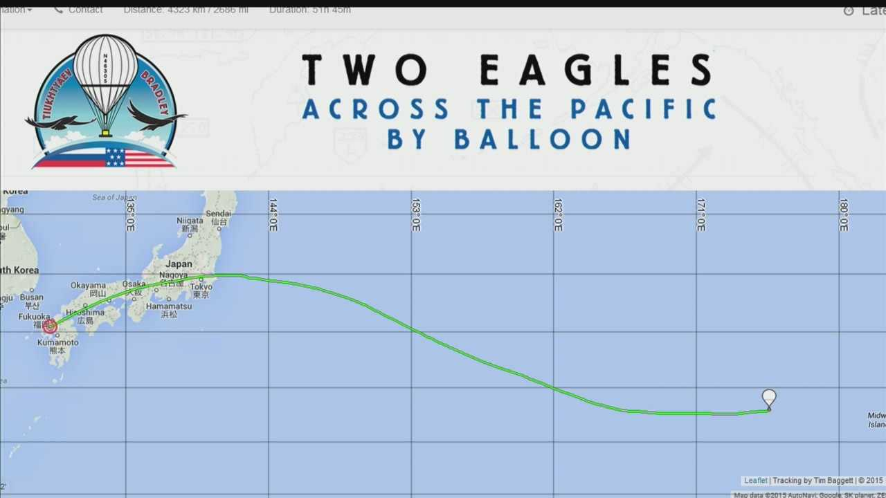 The Two Eagles balloon took off from Japan on Saturday, attempting a record breaking flight to North America.