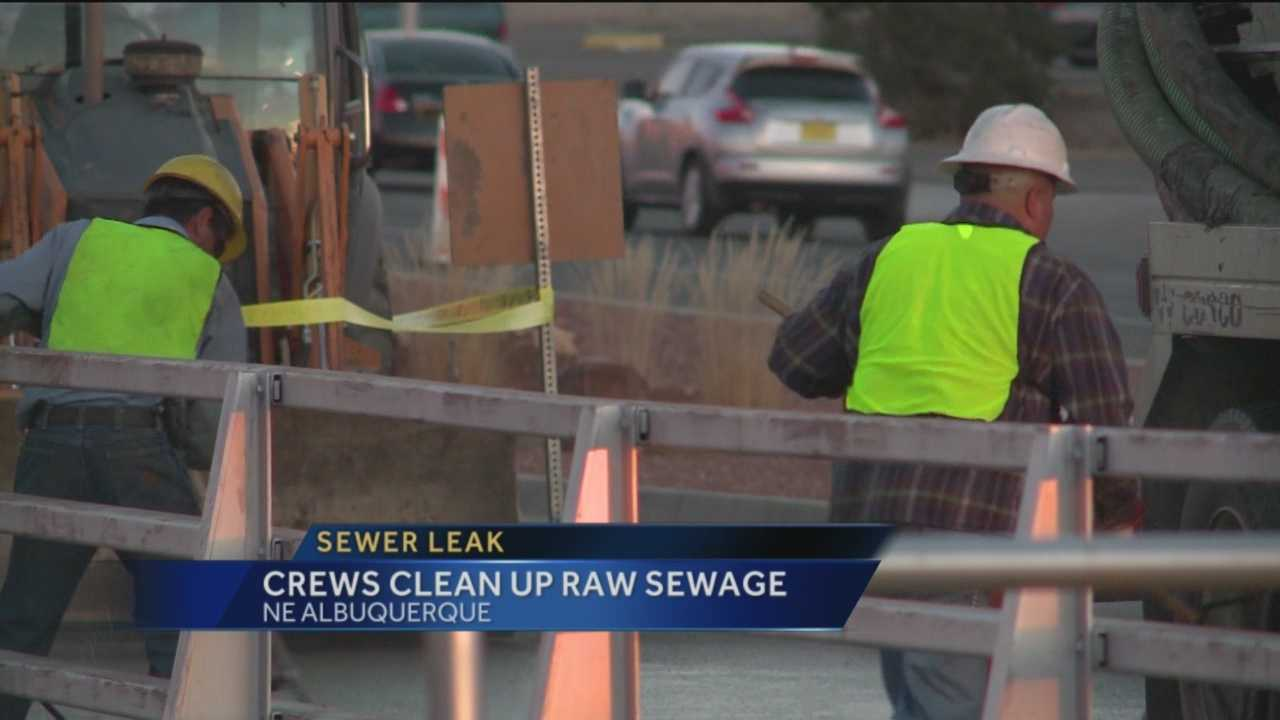 Raw sewage has been running down a northeast Albuquerque neighborhood, and people who live there it's been a mess in more ways than one.