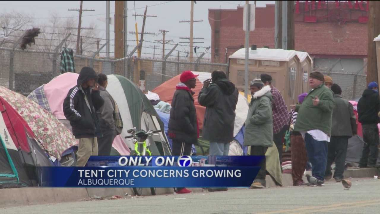 Since October, transients have lined up their tents in downtown Albuquerque and braced for cold temperatures.