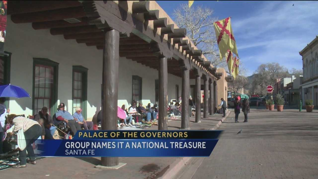 The Palace of the Governors in Santa Fe was chosen as a national treasure on Wednesday.