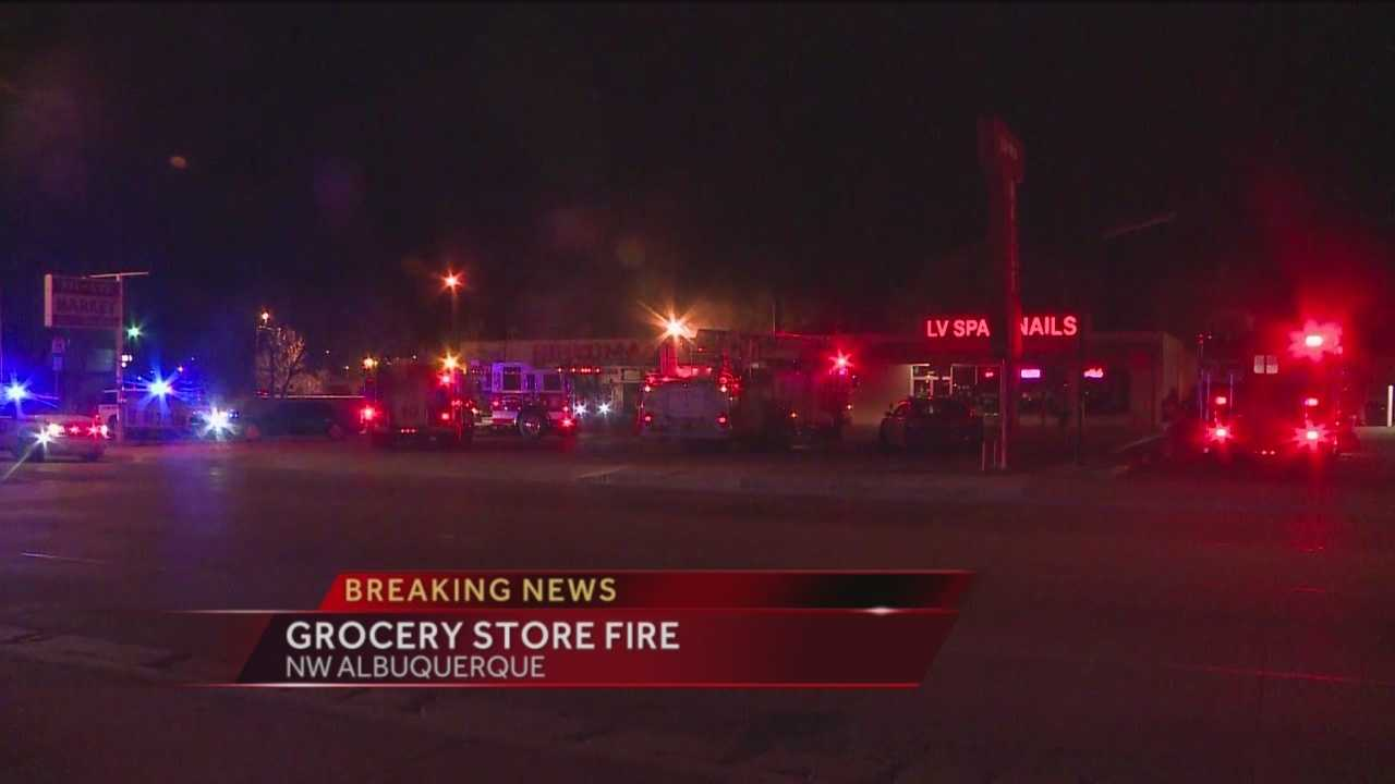 Overnight Grocery Store Fire