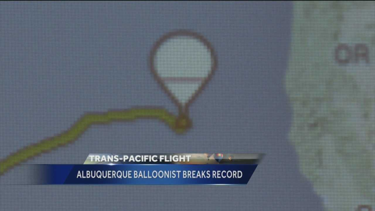 An Albuquerque balloonist and his copilot set an unofficial world record Thursday.