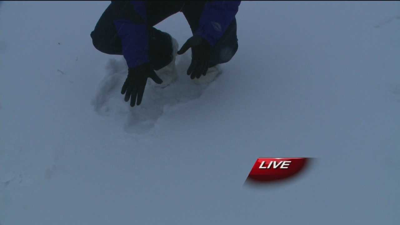 Kirsten Swanson tells us what conditions are like just East of town.
