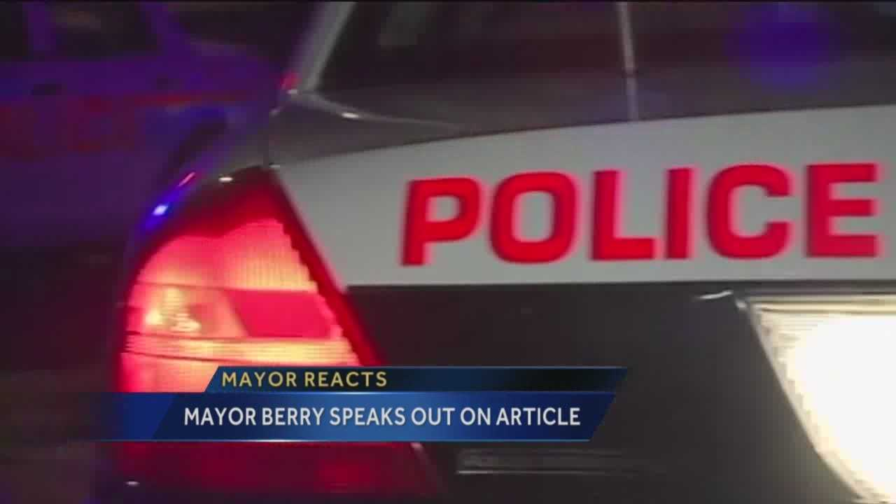 KOAT Action 7 News reporter Nancy Laflin has Mayor Richard Berry's reaction to scathing national articles targeting APD.